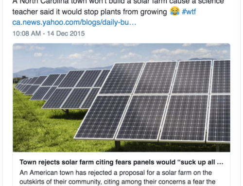 Town Rejects Solar Farm Amid Fears it Would 'Suck Up All the Energy From the Sun'